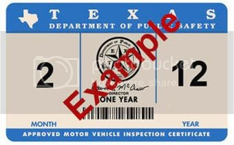 Texas Car Inspection >> New Texas State Inspection Stickers Hyundai Genesis Forum